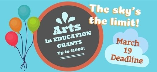 March 19 deadline to apply for up to $1000 art grants for educators