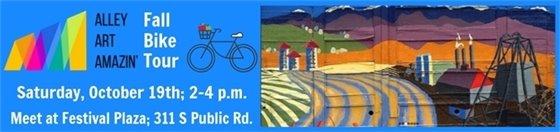 Oct. 19 2-4 PM Alley Art Amazin' Fall Bike Tour
