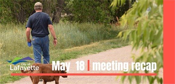 May 18  City Council meeting recap graphic