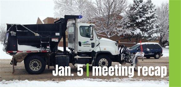 Jan. 5 City Council meeting recap graphic