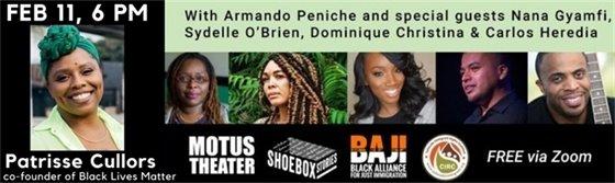 Motus Theater Presents Feb 11, 6 p.m. Patrice Cullors of Black Lives Matter