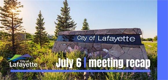 July 6 meeting recap graphic