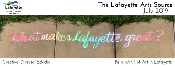 The Lafayette Arts Source Newsletter July 2019