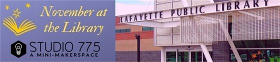 November offerings at The Lafayette Public Library