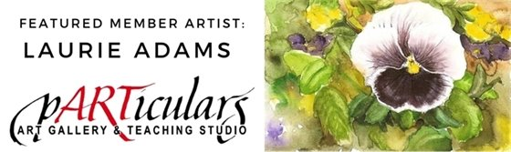 Laurie Adams reception at pARTiculars May 10 during Art Night Out