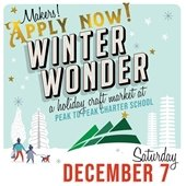 Apply Now for the Winter Wonder Holiday Craft Market on Dec 7