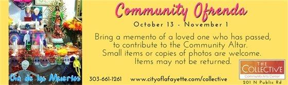 Contribute a memento to the Community Ofrenda 10/13- 11/1