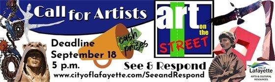 See & Respond to Art on the Street deadline September 29