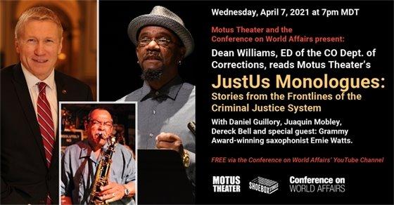 Wed, April 7 Motus Theater  presents JustUS Monologues