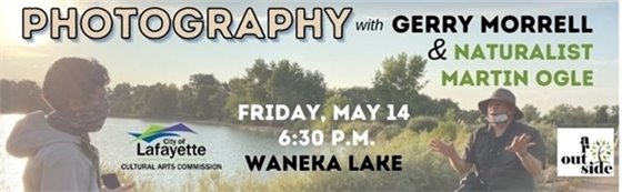 May 14 Free Nature Photography Class with Gerry Morrell