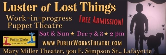 Free family theater Dec. 7 & 8 2 pm at Mary Miller Theater