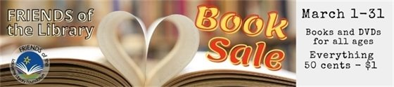 March 1-31 Support the Lafayette Public Library at the Friends Book Sale