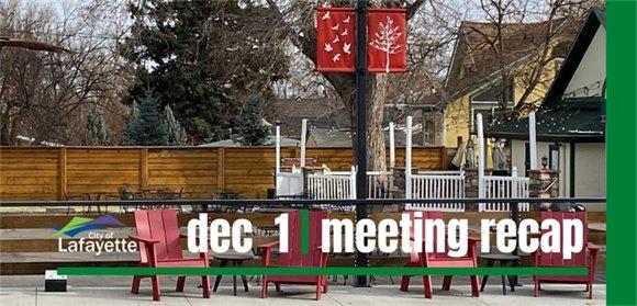 Dec. 1 City Council meeting recap