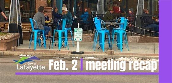 Feb. 2 City Council meeting recap graphic