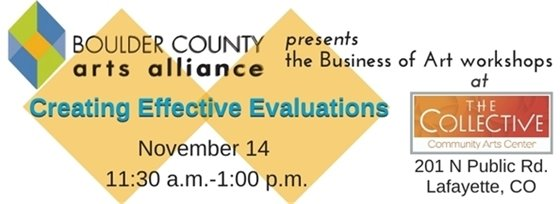 11/14; 11:30 a.m.-1 p.m. BCAA Presents Creating Effective Evaluations Workshop at The Collective