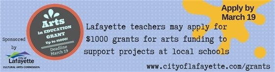 through March Arts in Education Grants
