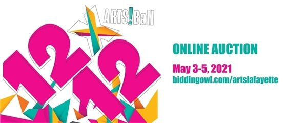May 3-5 Online Auction to support non profit Arts!Lafayette