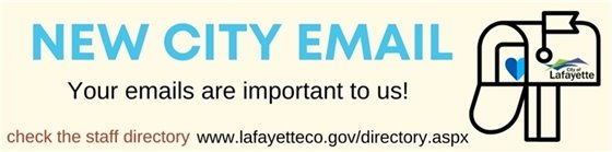 The City of Lafayette staff have new email addresses
