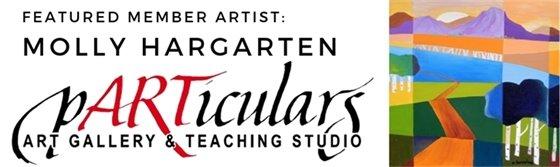 Molly Hargarten featured member artist at pARTicilars in June