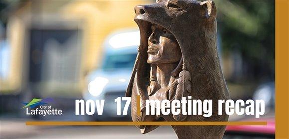 Nov. 17 meeting recap