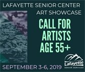 Senior Artist Showcase at the Lafayette Senior Center September 2019