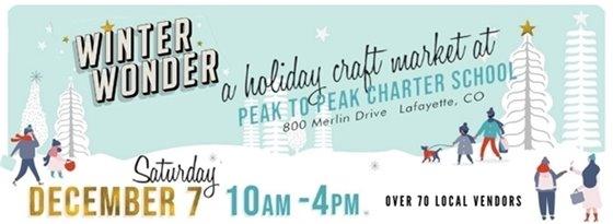 Winter Wonder Holiday Market December 7 at Peak to Peak