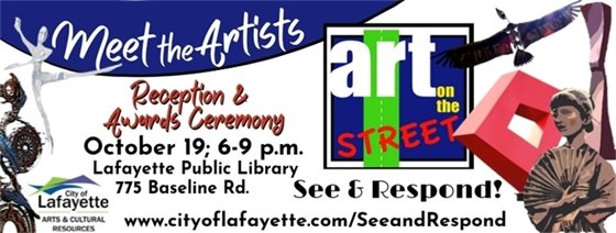 See & Respond Meet the Artists Reception; October 19; 6-9 p.m. at Lafayette Library