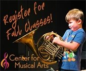 Register for Fall Classes at The Center for Musical Arts
