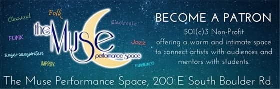Support Lafayette's Music Scene by becoming a patron of the Muse performance space