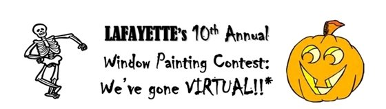 Enter the 10th Annual Lafayette Window Painting Contest - gone Virtual