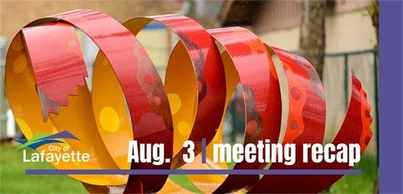 Aug. 3 Council Meeting Recap