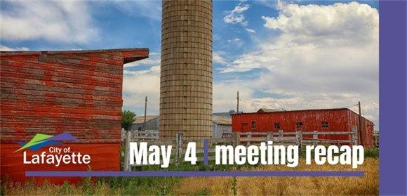 May 4  City Council meeting recap graphic