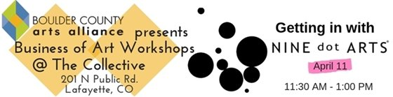Getting In with Nine Dots Workshop April 11; 11:30-1 PM