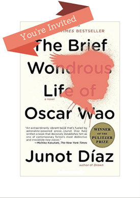 Discussion: Brief Wondrous Life of Oscar Wao, Mar. 20 @ 6pm