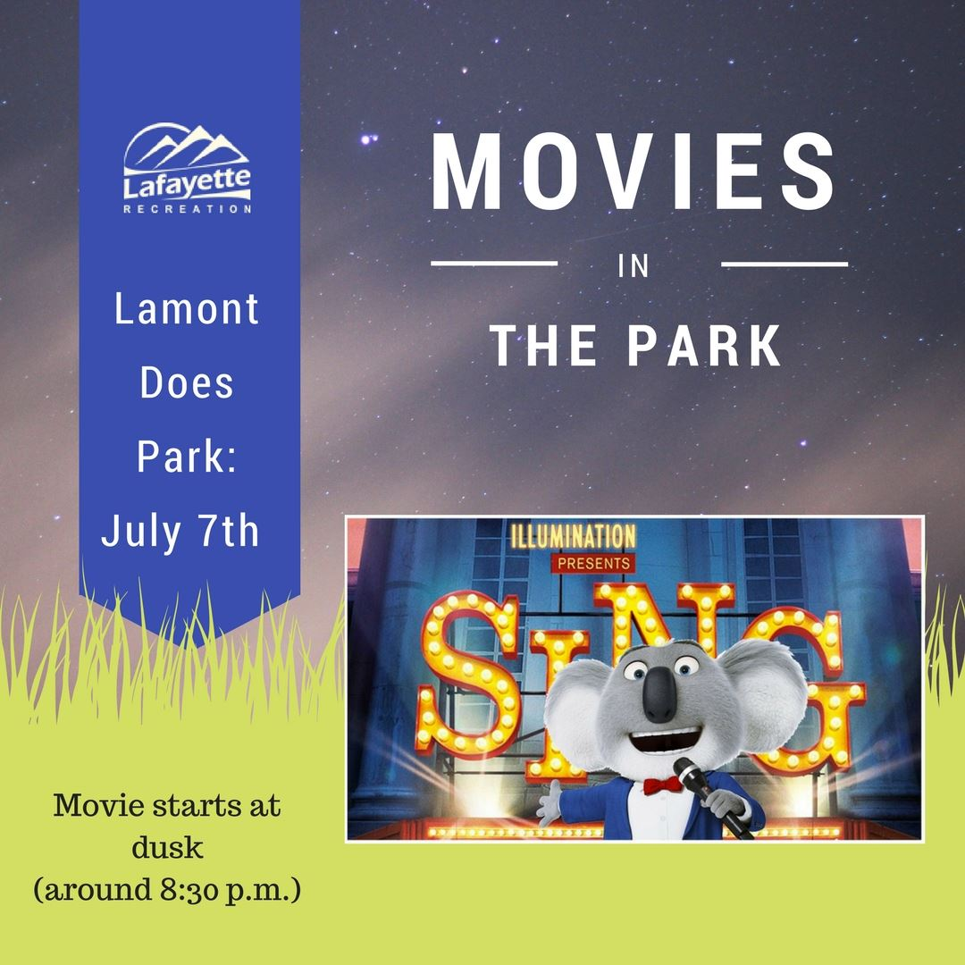 Copy of Movies In the Park Facebook post - Sing