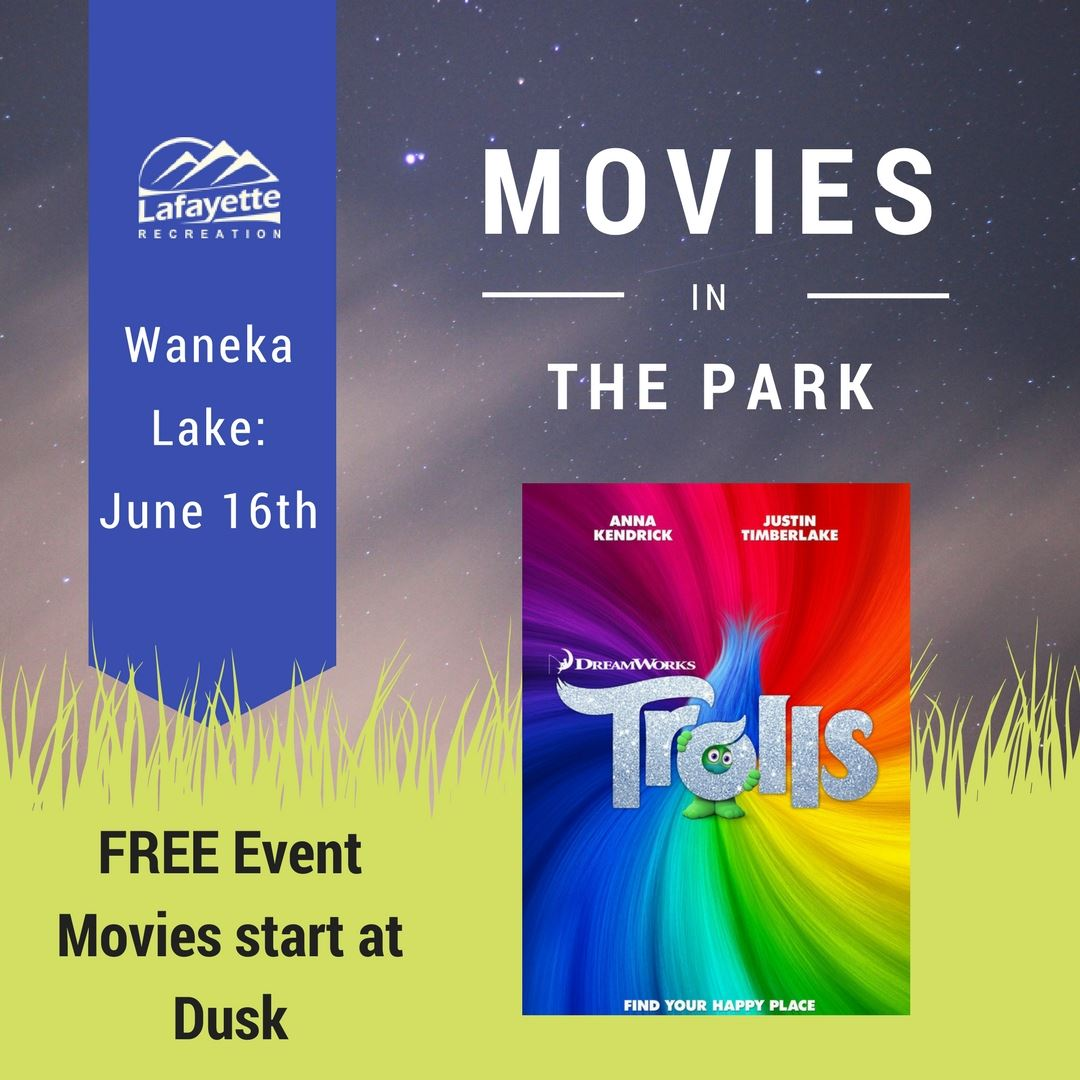 Movies In the Park Facebook post - Trolls