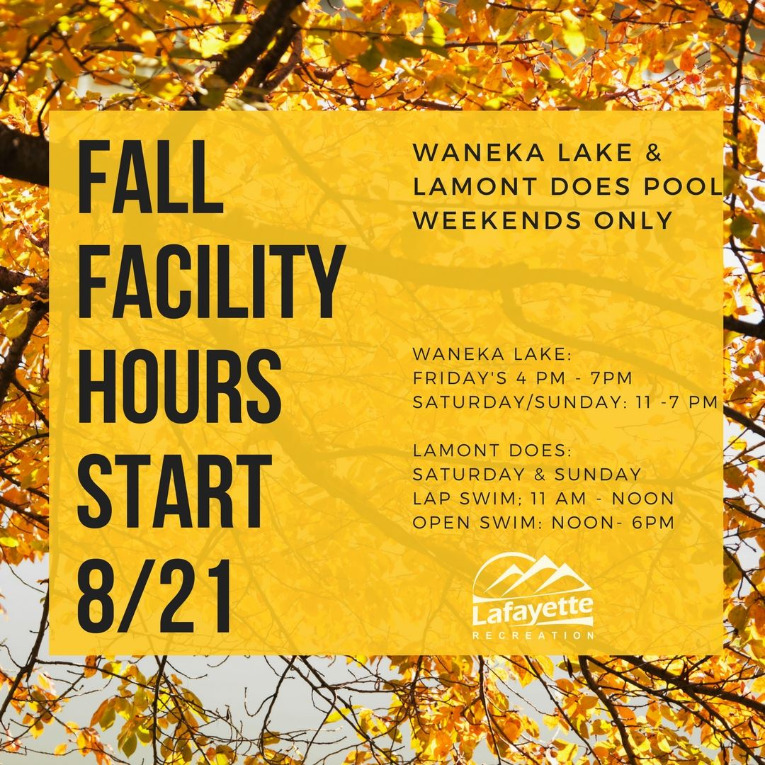 Fall Facility Hours IG