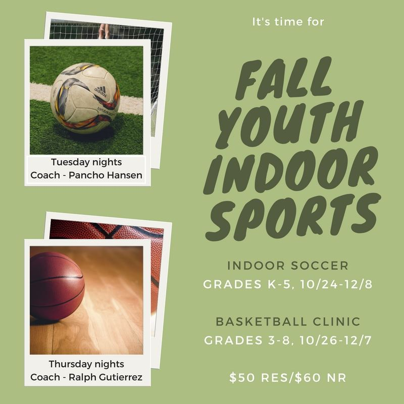 Fall YOuth INDOOR SPORTS