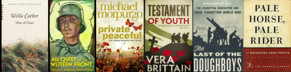 WWI Centennial Book Covers for book discussions