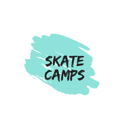 Blue Marker Splash with Skate Camp Text