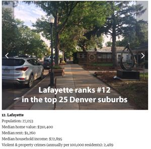 top 25 Denver suburbs Lafayette photo