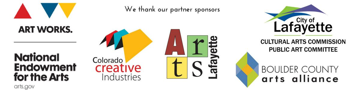 Our sponsors are National Endowment for the Arts, Colorado Creative Industries, Boulder County Arts