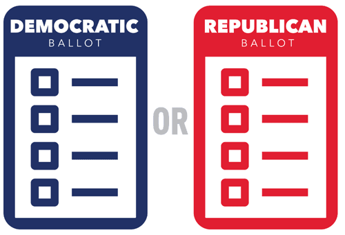 dem or rep ballot graphic
