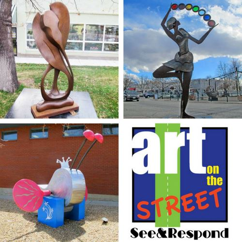 See and Respond logo and sculpture pictures