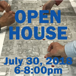 webpage open house graphic