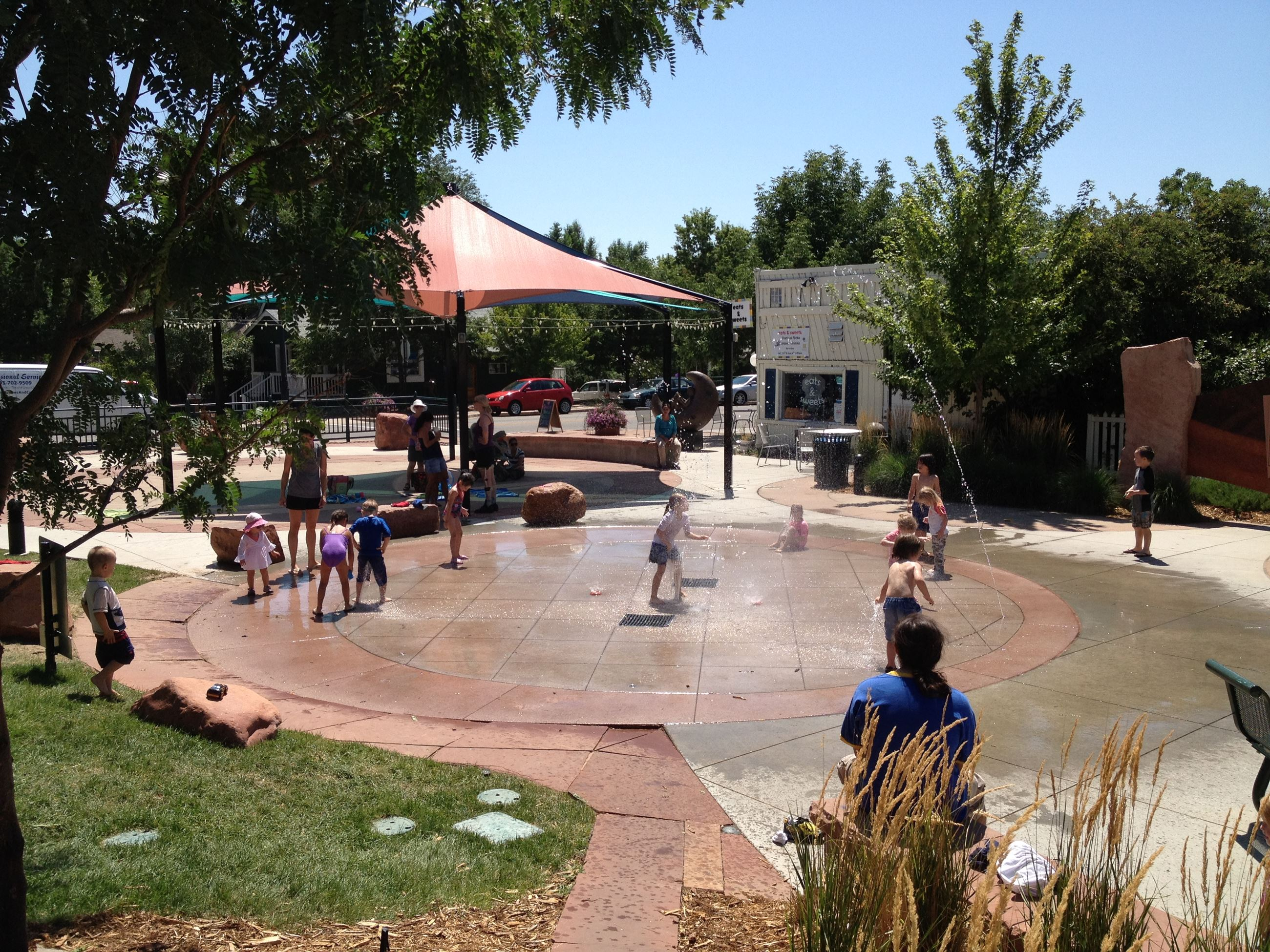 The Splash Pad at Festival Plaza
