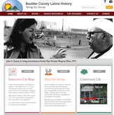 Screenshot of Boulder County Latino History Project website