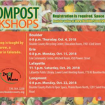 fall compost workshop registration information boulder county