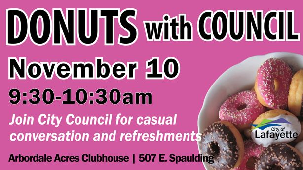 Donuts with Council on November 10
