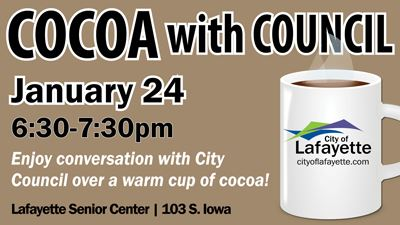 Cocoa with Council on January 24